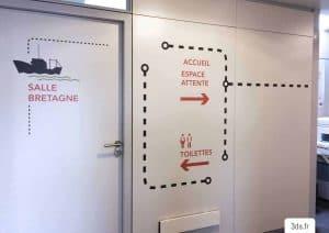 Signalétique intérieur directionnelle programmation signalétique