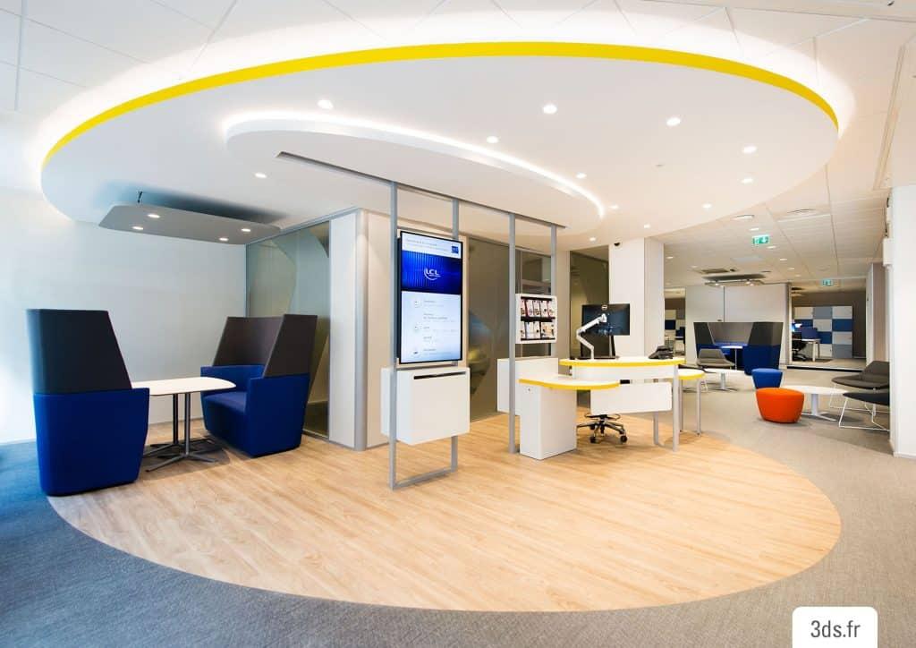 Décoration agence bancaire concept 2020