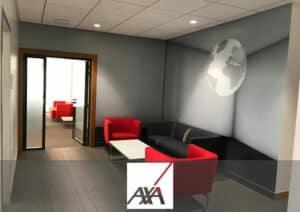 Aménagement bureau AXA - Référence