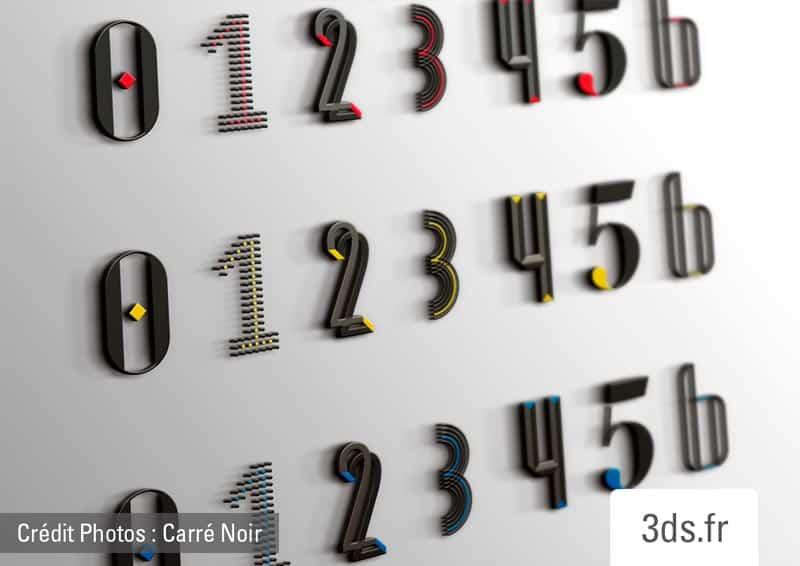 Design Signalétique Ascenseur Numero Etage