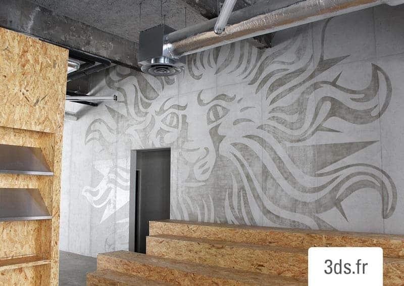Conception Graphique Décor Mural Corporate Peint Publicis