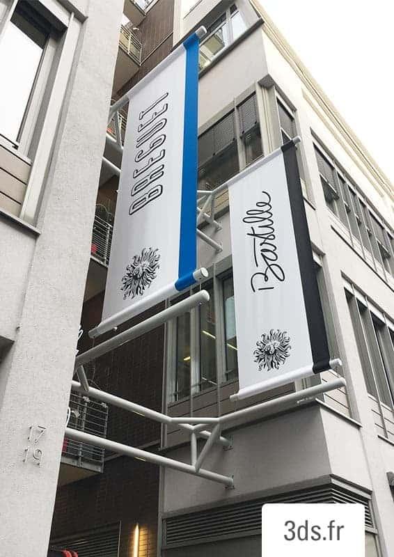 Kakémono Drapeau Signalétique Paris Bâche Tendue PVC