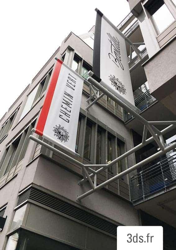 Kakémono Signalétique Extérieure Bâche PVC Publicis