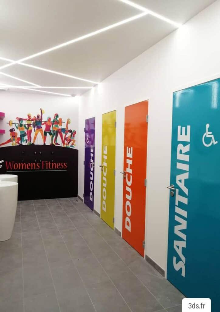 Signalétique Vestiaire Douche Toilettes - Signalétique Sanitaire