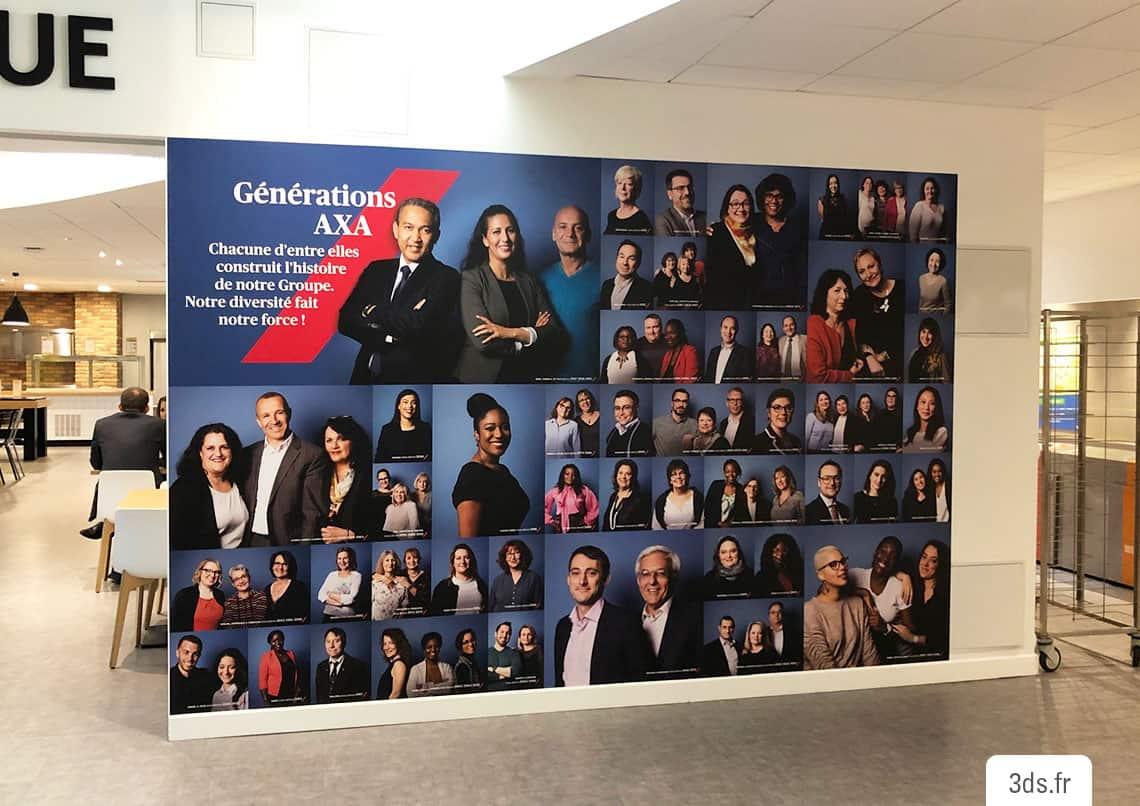 Visuel imprimé mur corporate entreprise