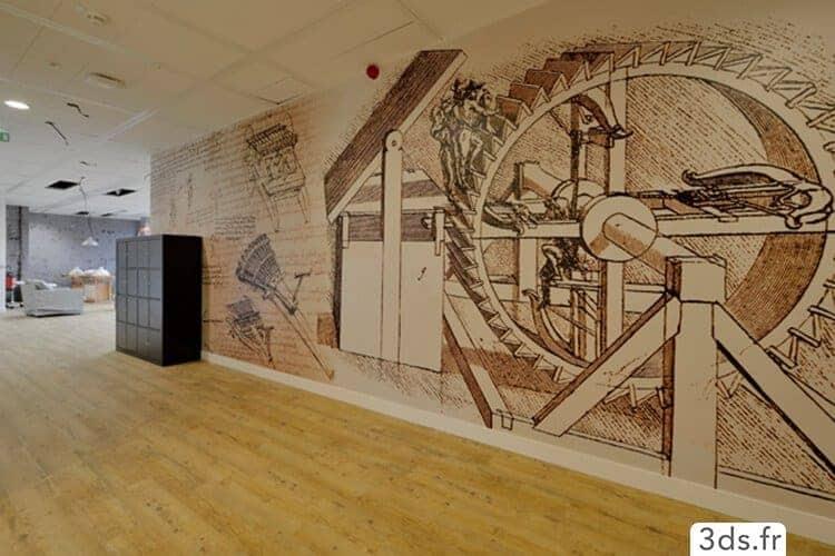 visuel mural imprimé sur mesure décoration bureau