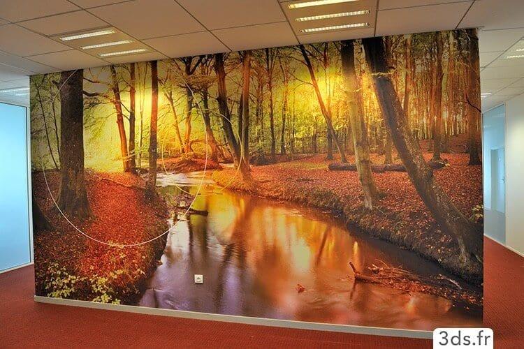 Impression numérique toile encollée décoration bureau