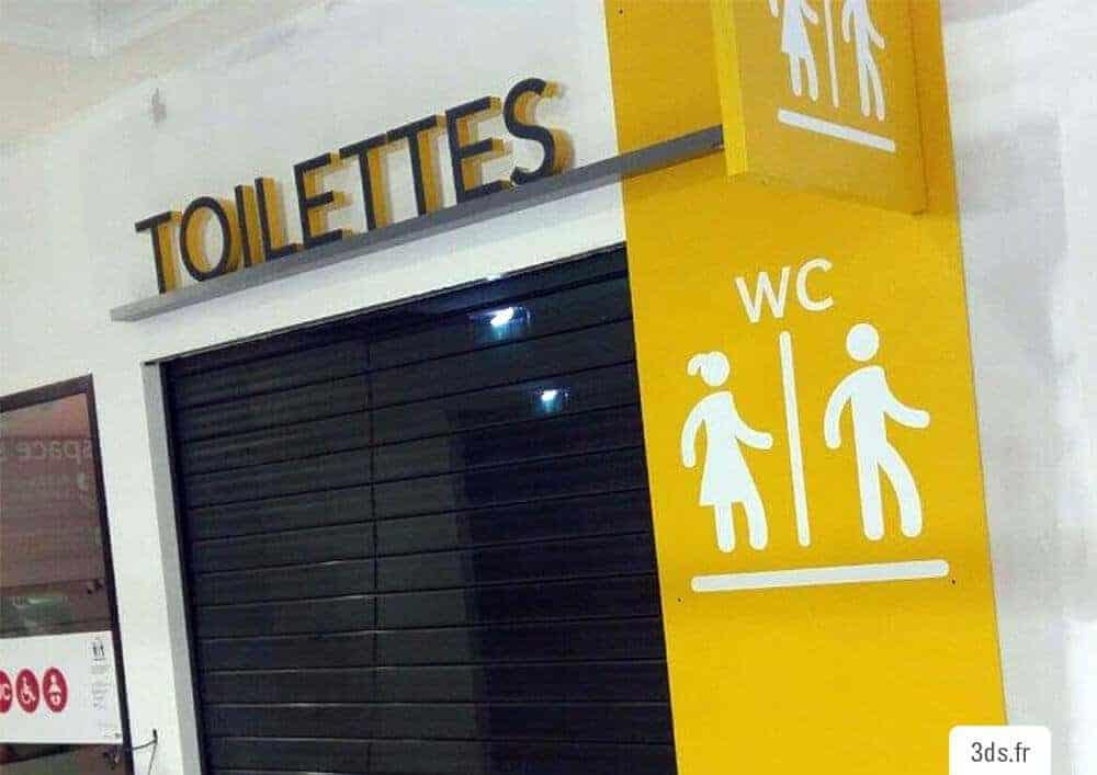 Signalétique toilette grand pictogramme adhésif