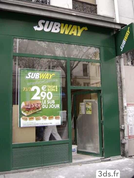 Signalétique enseigne facade restaurant