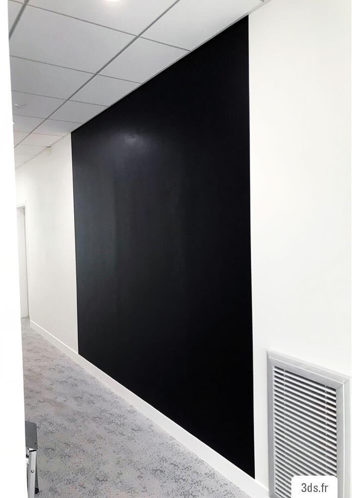 Film magnétique noir ferreux mur bureau