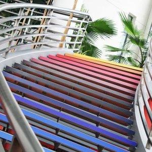 Habillage adhésif design contre-marche escalier