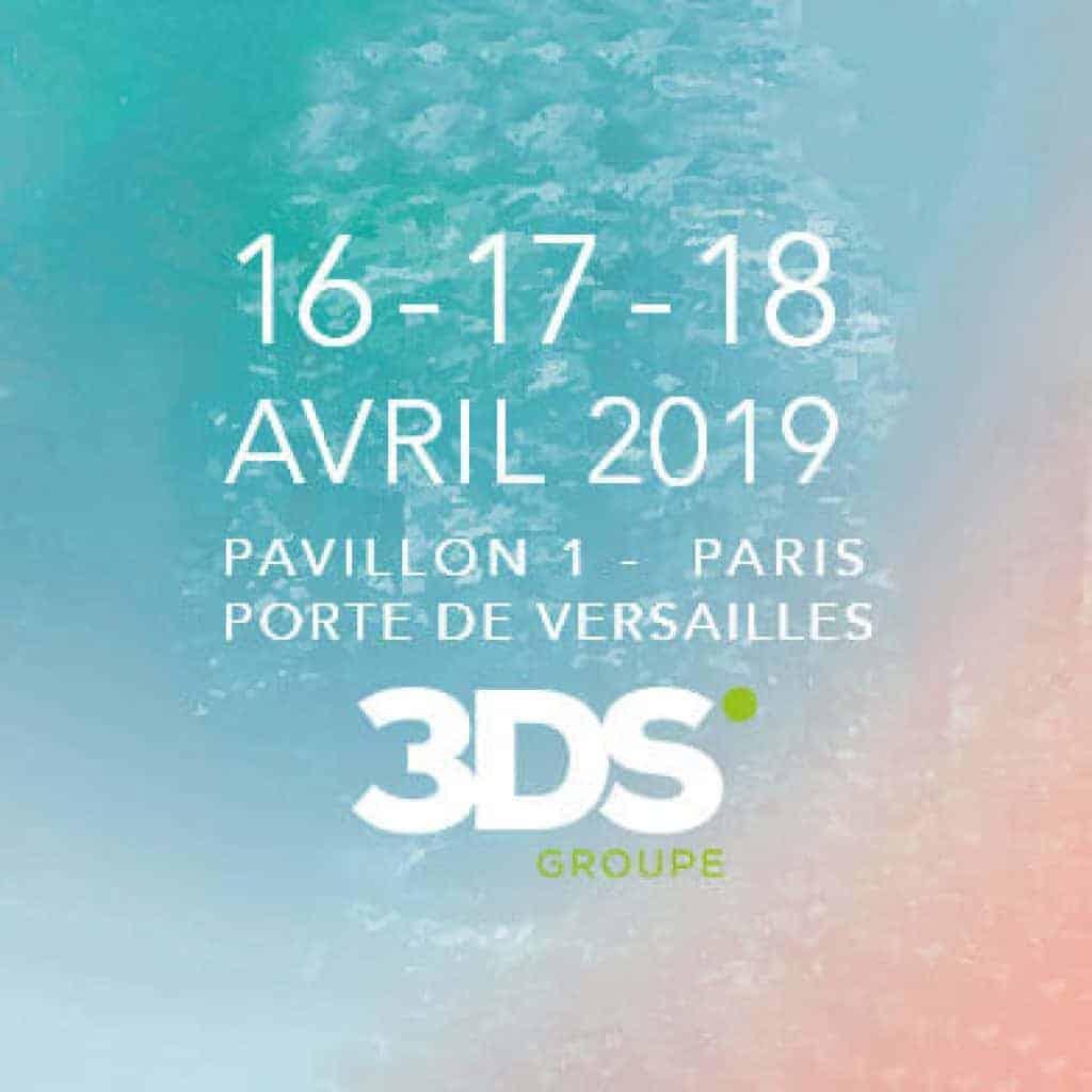 3DS Groupe présent Workspace Expo 2019 Affiche