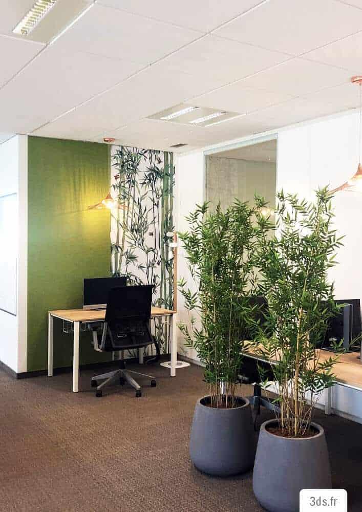 Visuel décoratif bureau entreprise impression murale