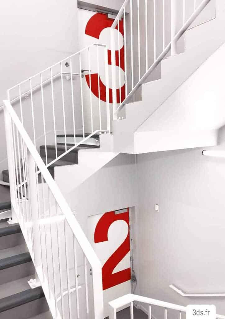 Signalétique d'étages originale colorée