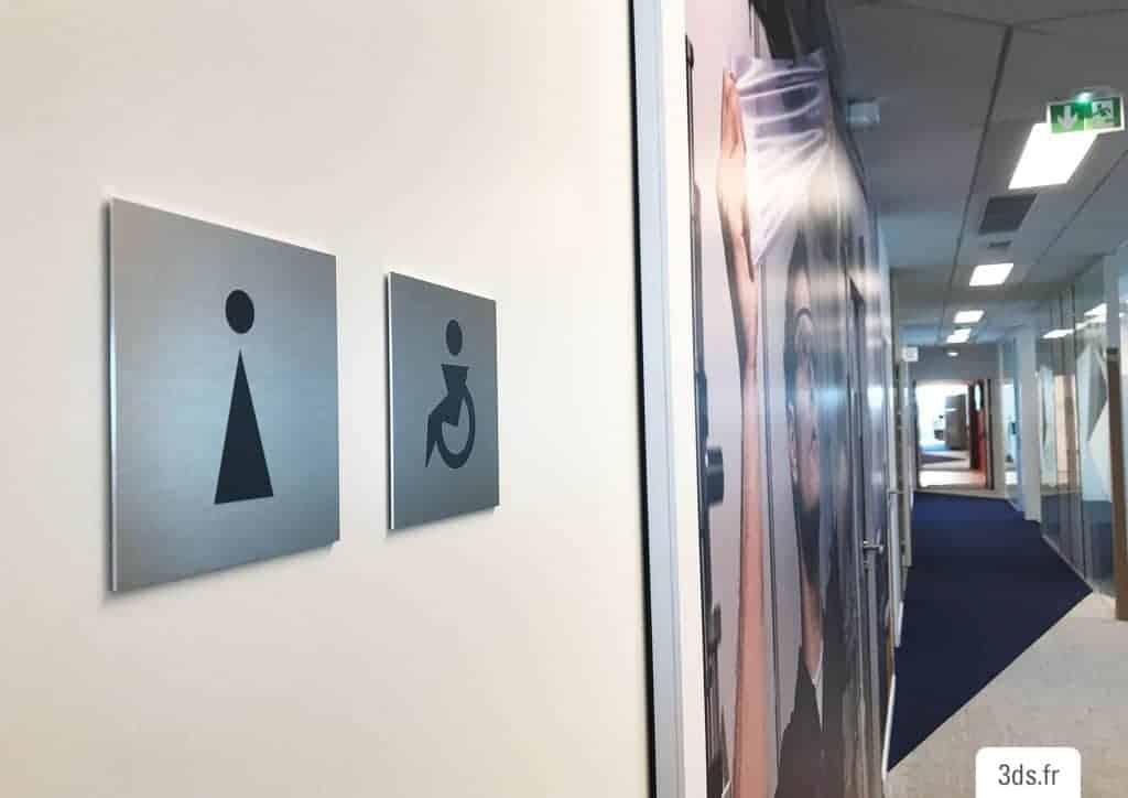 Signalétique pictogramme toilette entreprise