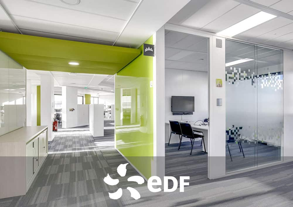 Aménagement bureau EDF - Référence