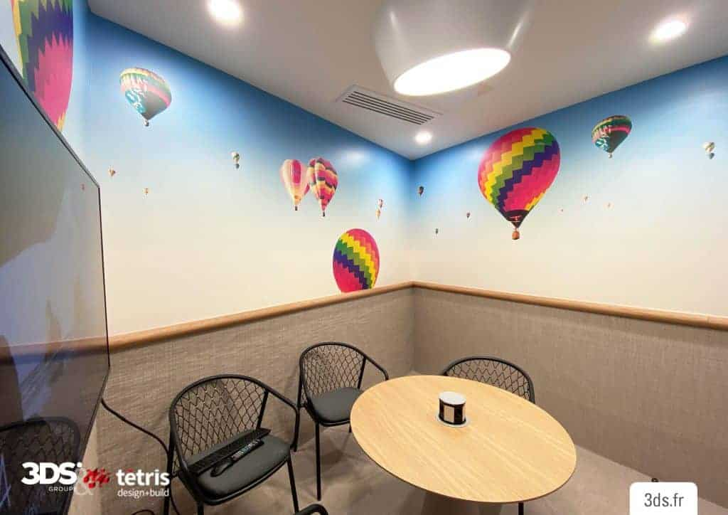 Visuel mural design mur entreprise impression