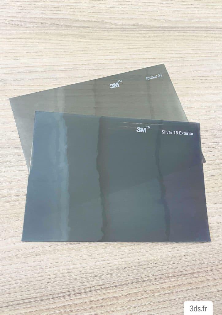 Echantillon film solaire ambre 3M