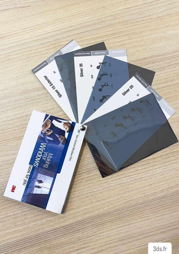 Nuancier film solaire gamme 3M