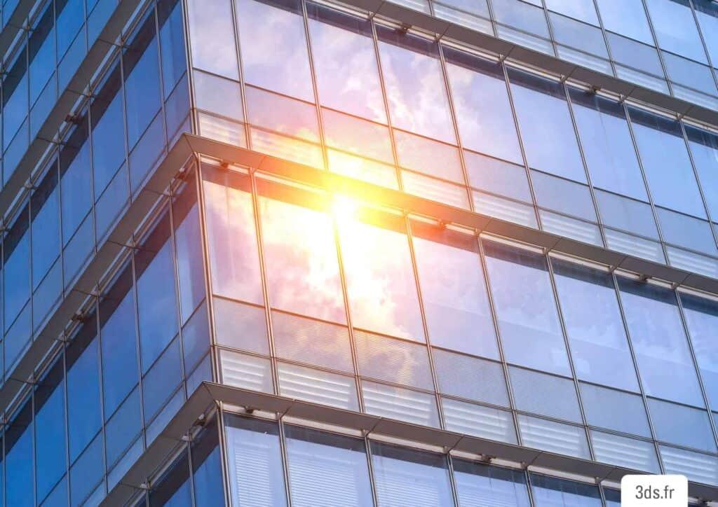 film solaire façade bâtiment adhésif 3M