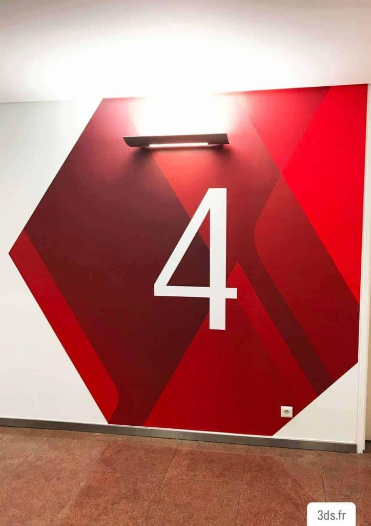 Signalétique Adhésive Numéro Étage Palier Ascenseur
