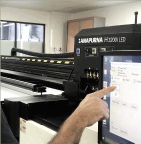 Machine impression numérique UV adhésif 3DS Groupe