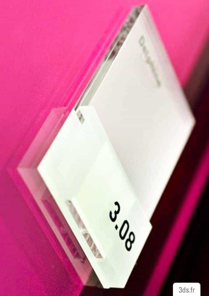 plaque de porte sur mesure plexiglass depoli