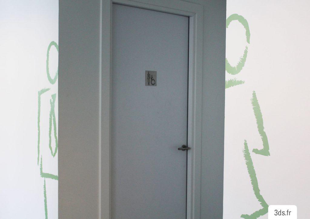 signalétique toilette adhésif découpé homme femme design