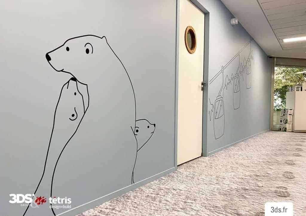 Visuel Mural Entreprise Couloir