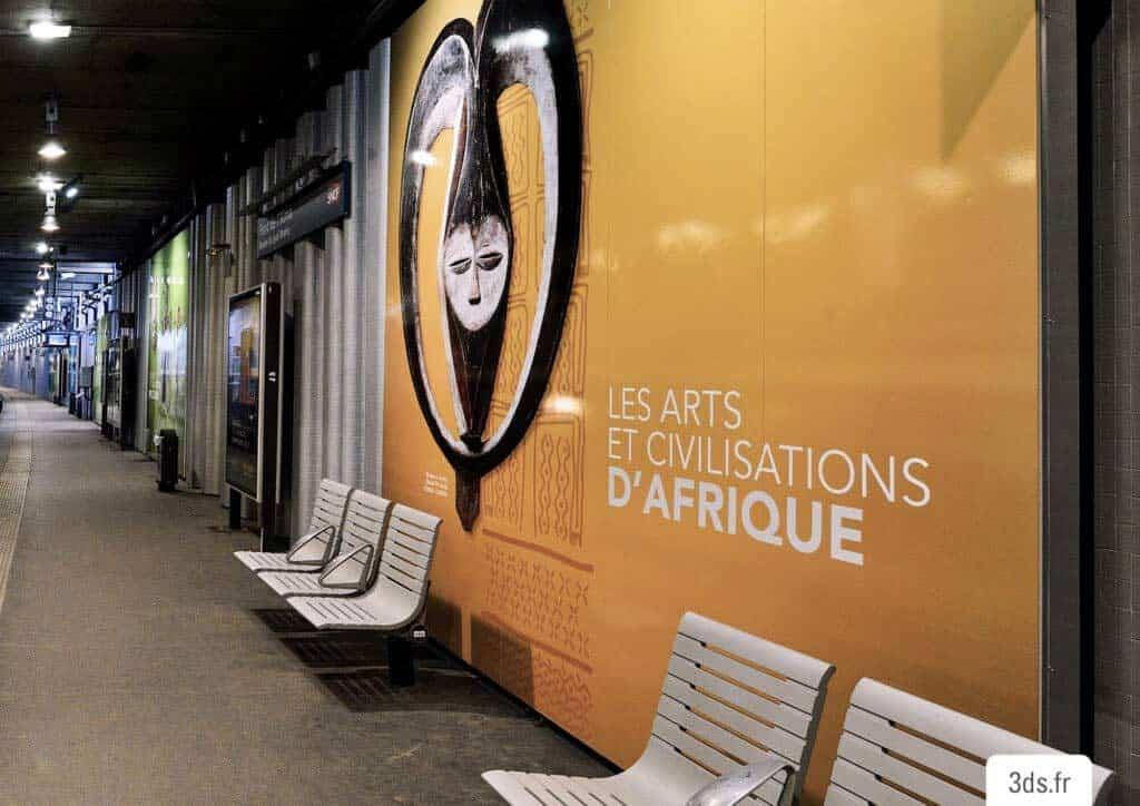 Visuel décoratif mur gare SNCF