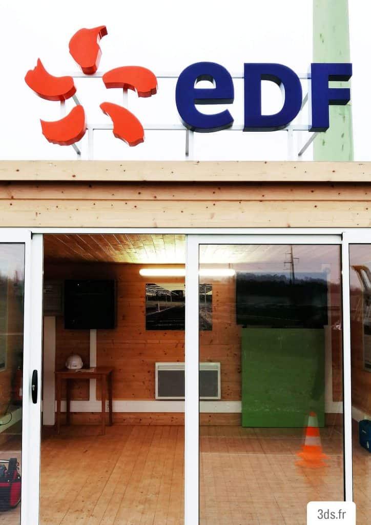 Logo enseigne 3D extérieure bâtiment
