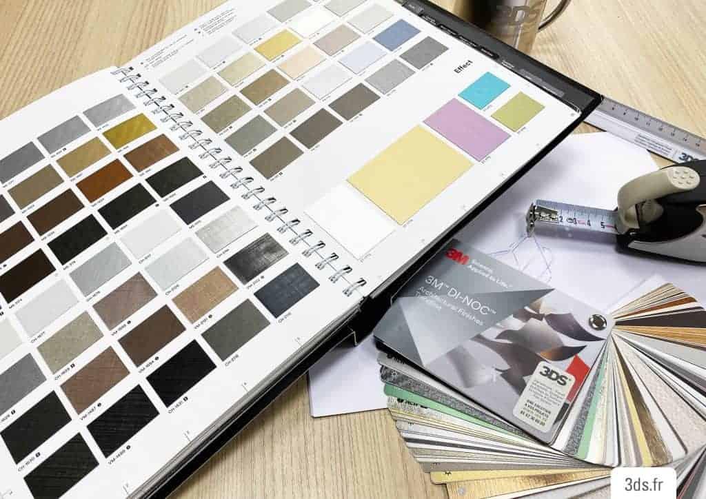 Nuancier catalogue DINOC 3M échantillons film