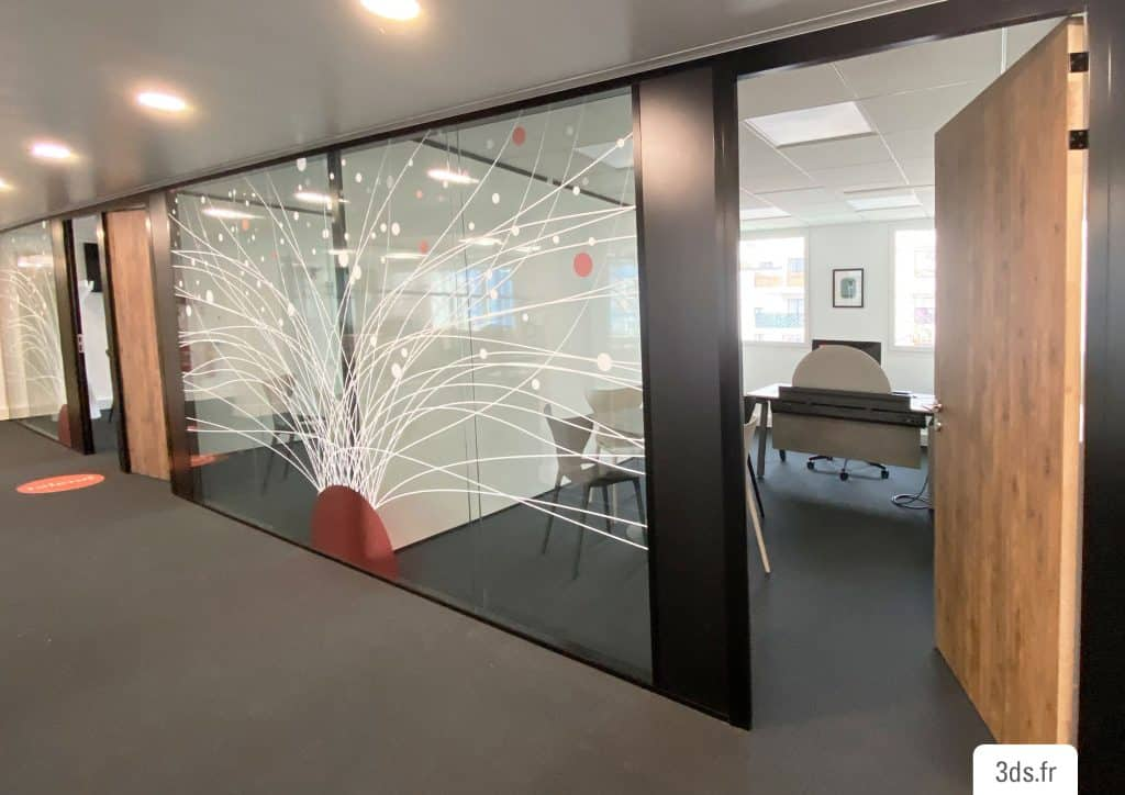 Vitrophanie design corporate entreprise