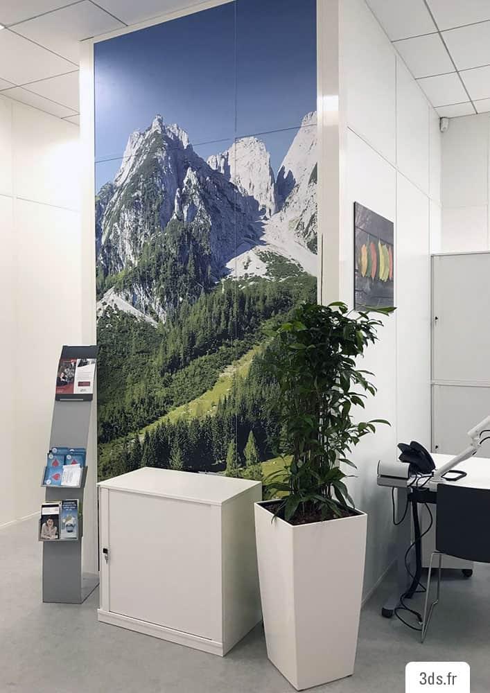 Décoration murale bureau adhésif film imprimé
