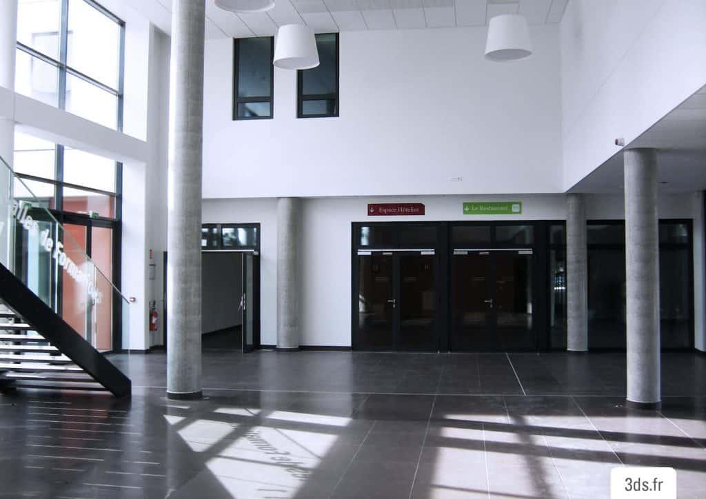 Signalétique adhésif hall immeuble
