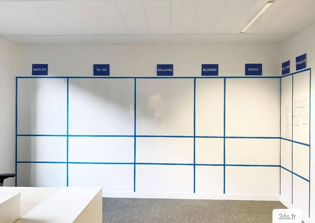 Film écriture whiteboard mur bureau