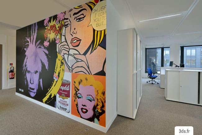 vinyle adhésif mural décoration bureau