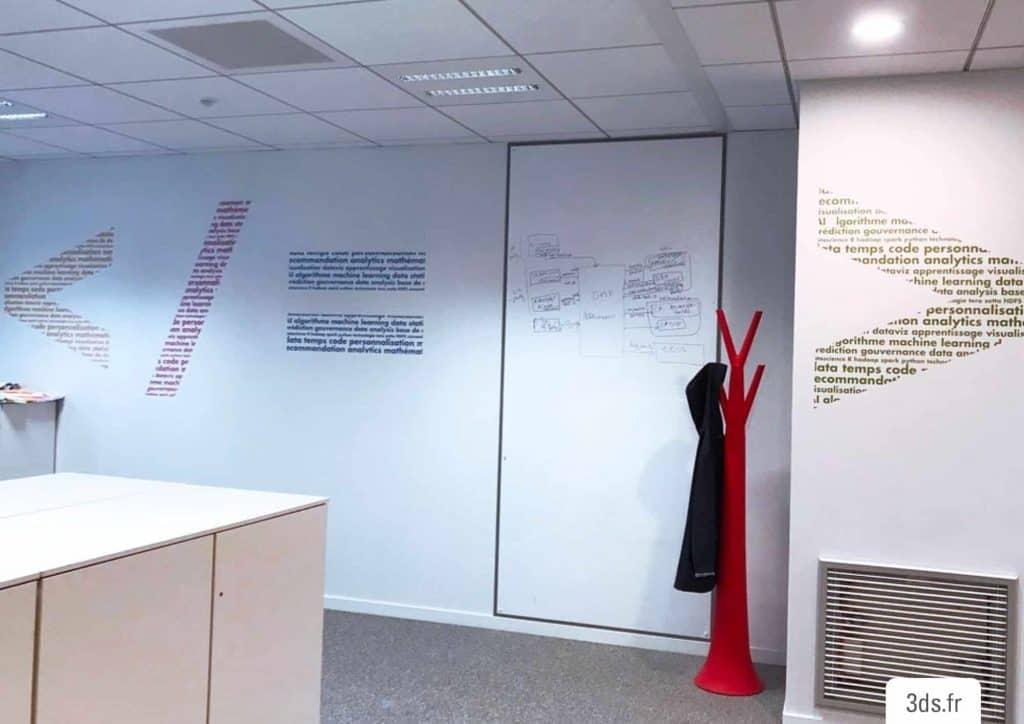 Film écriture mur bureau entreprise