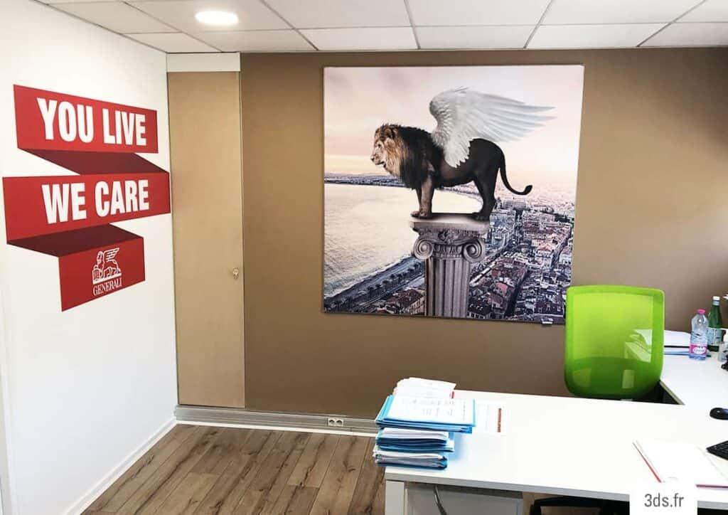 Toile Tendue Sur Mesure Corporate Décoration Murale