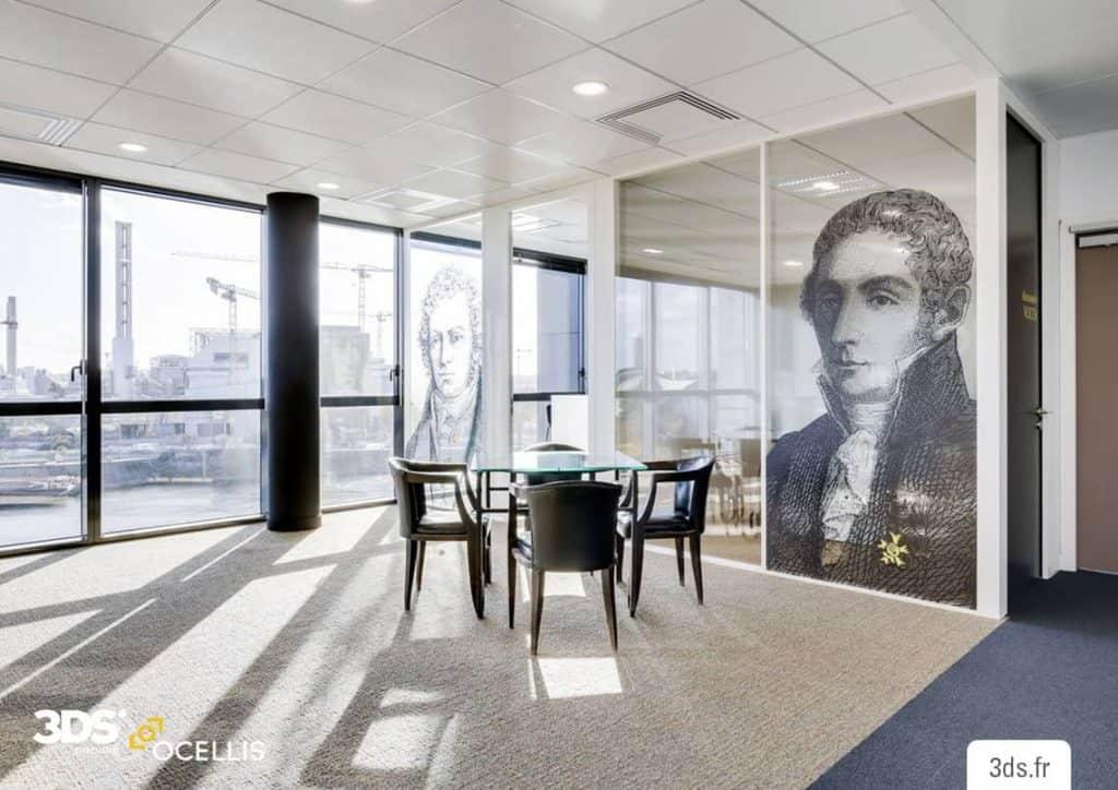Vitrophanie design bureau impression numérique