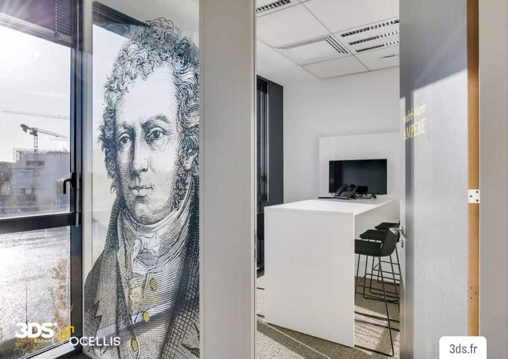 Vitrophanie impression latex vitrage décoration bureau