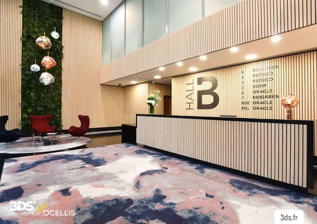 Signalétique intérieure Prix hall accueil adhésif
