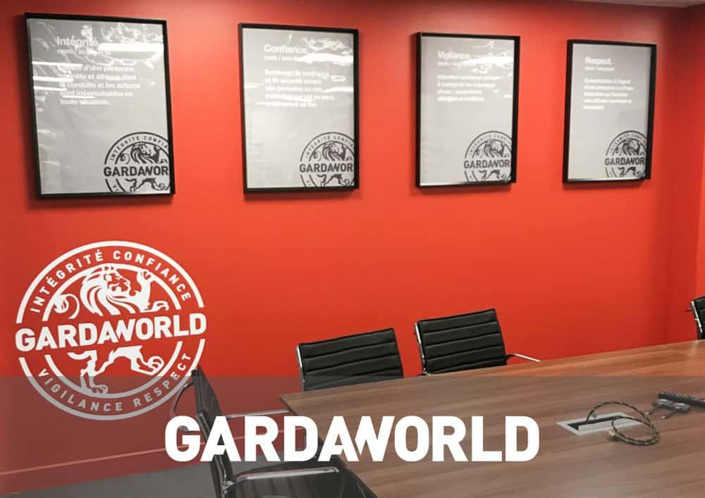 Aménagement bureau GARDAWORLD - Référence