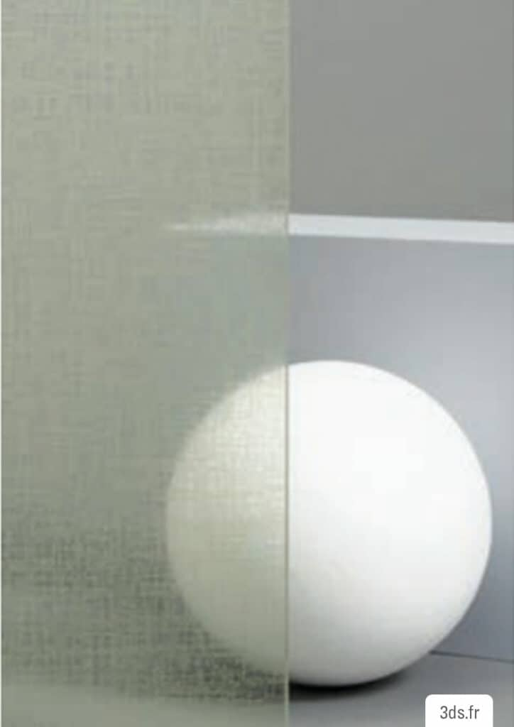 Vitrophanie fasara 3M décoratif tissé