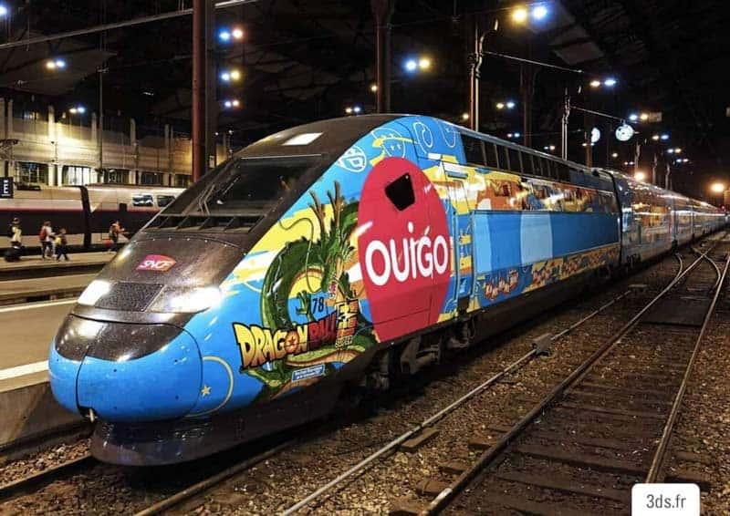 Covering Train Événementiel habillage publicitaire
