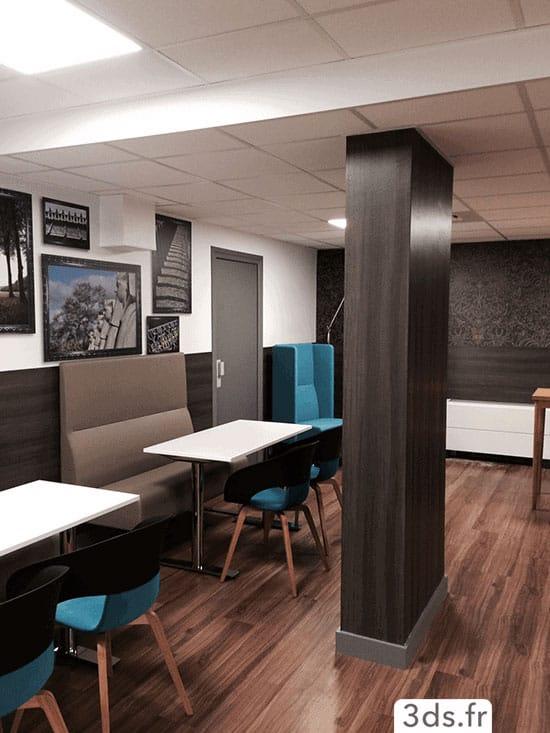 Habillage 3M DINOC pilier restaurant