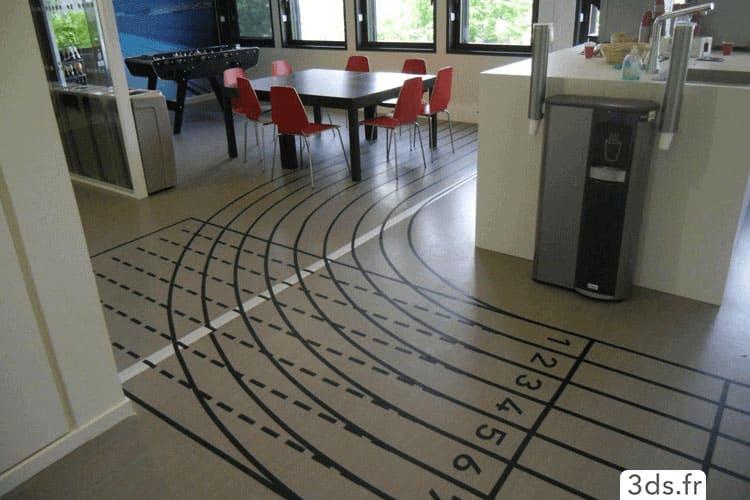 Marquage au sol intérieur signalétique entreprise