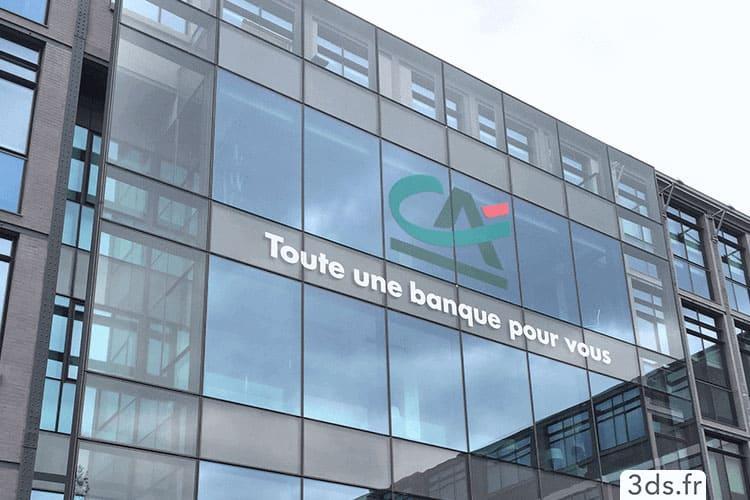 Enseigne adhésive extérieur logo bâtiment