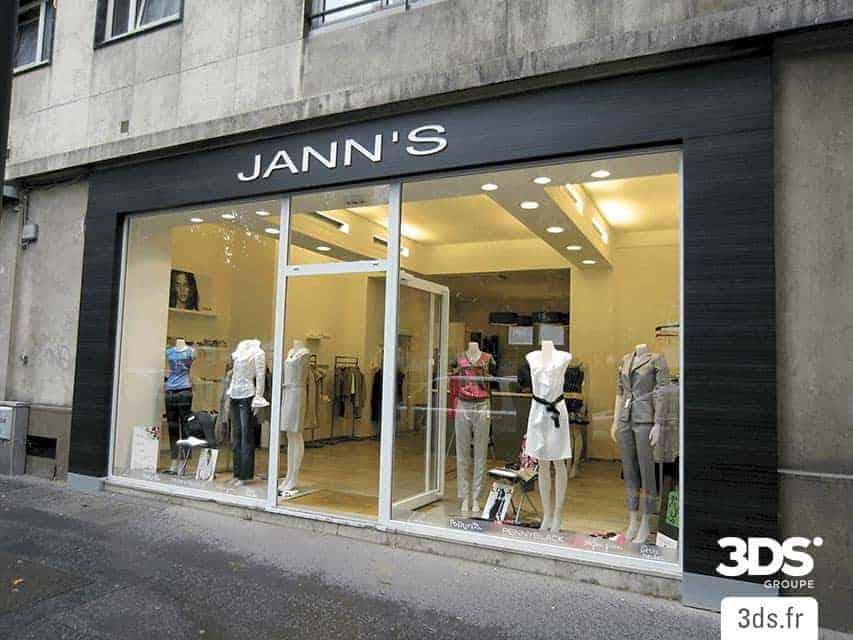 Habillage facade magasin film DINOC 3M adhésif