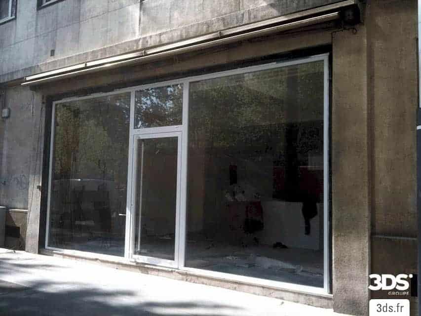 Avant intervention habillage facade magasin